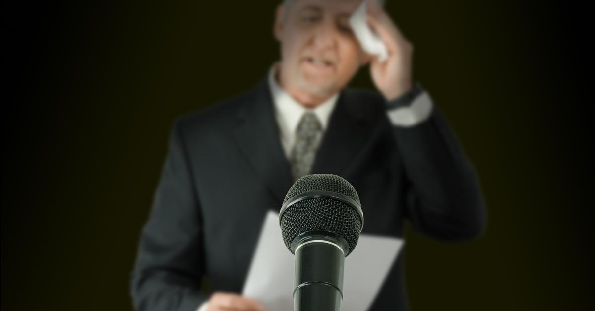 Nervosismo ao falar em público ou Glossofobia?